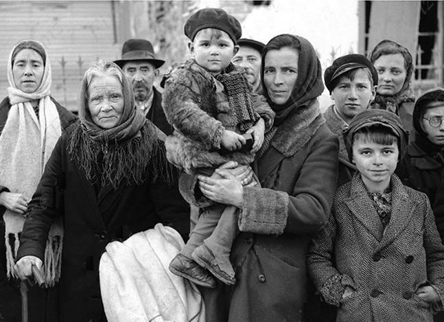 Image result for World War II refugees + photos + free