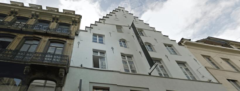 Photo de la maison à pignons rue neuve 43 à Bruxelles