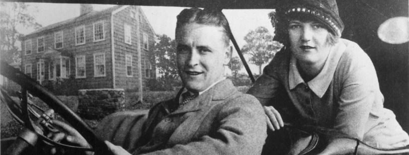 Portrait en naoir et blanc du couple Scott et Zelda Fitzgerald