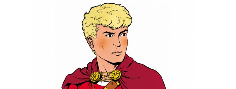 Détail d'un dessin d'Alix, personnage de la BD de Jacques Martin