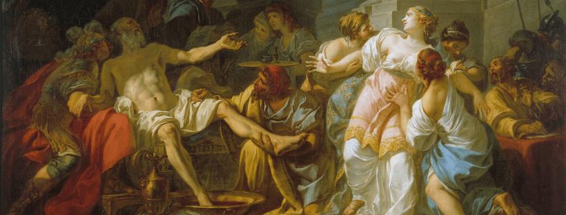 La Mort de Sénèque, tableau de Jacques-Louis David (détail), 1773. Musée des Beaux-Arts de la ville de Paris.
