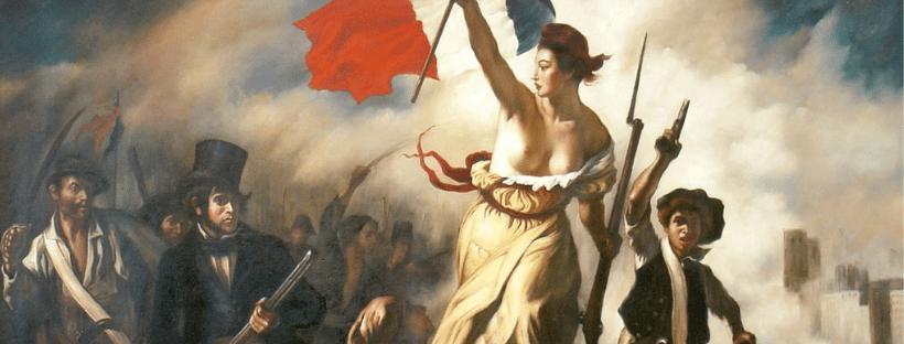 La liberté guidant le peuple, tableau d'Eugène Delacroix représentant la révolution de juillet 1830 à Paris