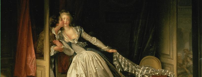 """Détail du tableau """"Le Baiser volé"""" de Fragonard"""
