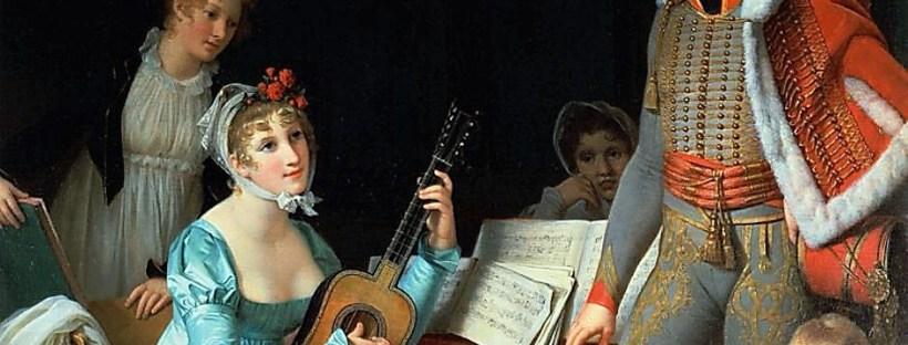 tableau représentant Laure Junot et sa famille en 1800