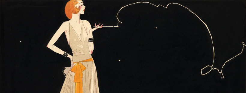 """Where there's smoke there's fire"", une illustration de Russell Patterson, années 1920 (detail)"