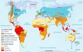 CARTE BREVET les climats dans le monde1