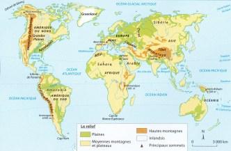 CARTE BREVET plaines plateaux montagnes dans le monde1