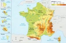 CARTE les reliefs en France1