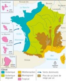 carte france climat
