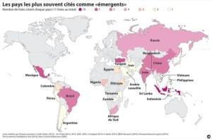 carte pays émergent