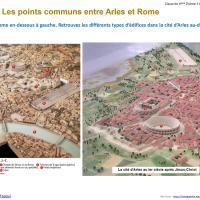 Classe à la maison : 6e histoire thème 3, la romanisation et l'exemple de la cité d'Arles
