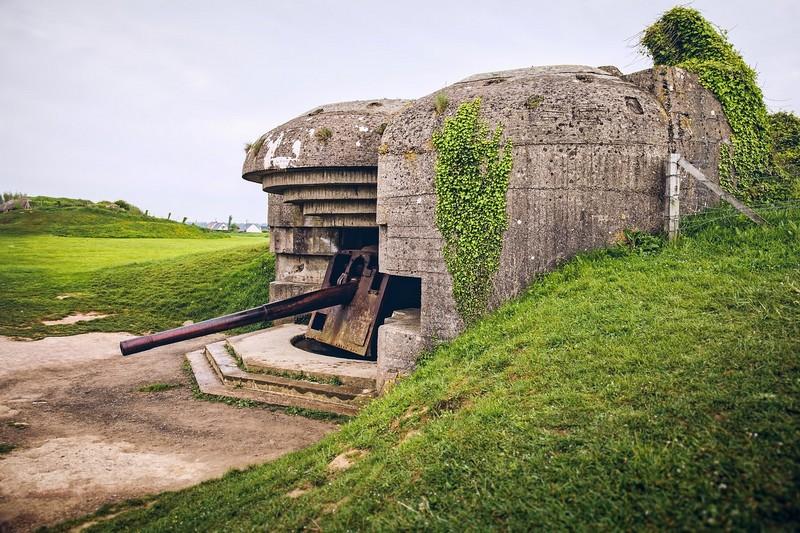 6 juin  1944 Normandie, batterie de Longues-sur-Mer