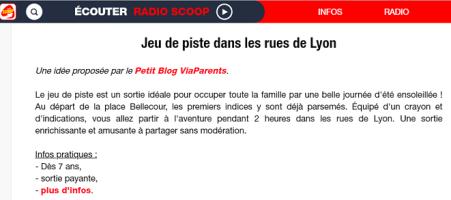 Jeu de piste Lyon