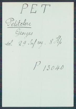 Petitclerc Georges prisonnier à Grafenwöhr 26 janvier 1915 - archives de la Croix Rouge