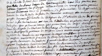 Mariage de Magdeleine-Angélique de La Tour avec Pierre-Paul Clerc de Ladeveze 2/4