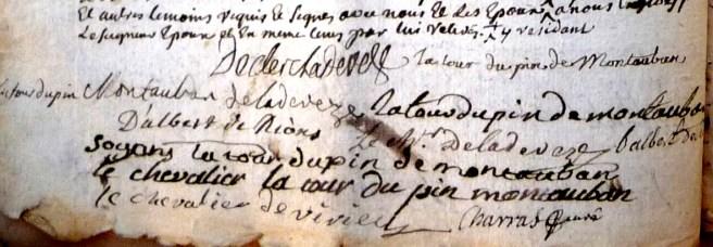 Mariage de Magdeleine-Angélique de La Tour avec Pierre-Paul Clerc de Ladeveze 3/4