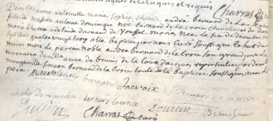 Baptême d'Anne Bernard De La Croix