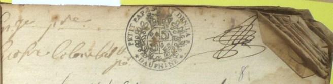 Contrôles administratifs portés sur l'exemplaire du registre du curé / Première mention en 1706