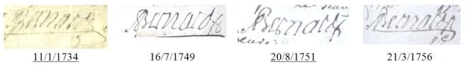 Les générations chaupatières (1730-1804) 1/3