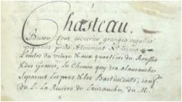 Description du château en 1707