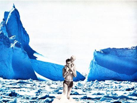 Arctic Holidays III, collage, 2014.