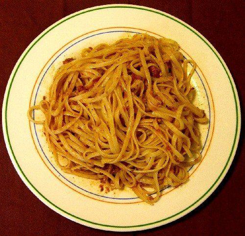 espaghetti con salsa romesco