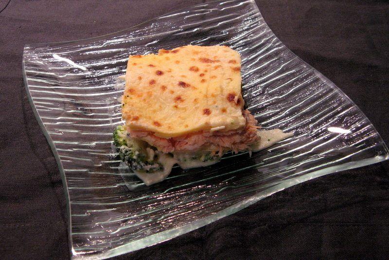 lasagne au brocoliet au  saumon
