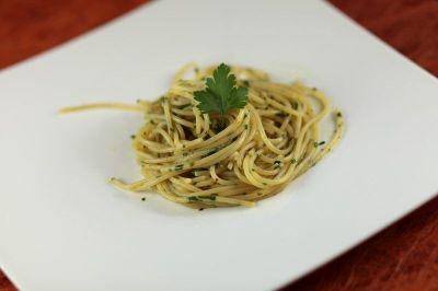 spaghetti alio aglio