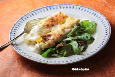 Cannellonis au veau et épinards