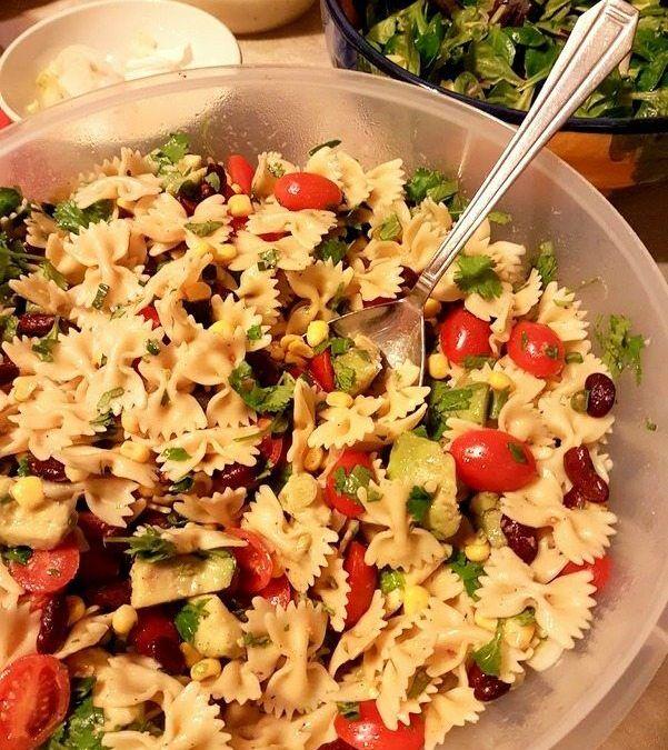 Salade de pâtes façon tex-mex
