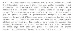Extrait du Mémorandum de l'UDES sur les événements de l'Université de Dakar, 26 mai 1968.