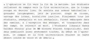 Extrait d'une lettre du Recteur Teyssier au ministère de l'Éducation nationale, 12 juin 1968.
