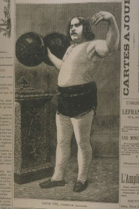 « Louis Cyr, l'hercule canadien », image tirée du périodique Le Monde illustré (13 février 1886).