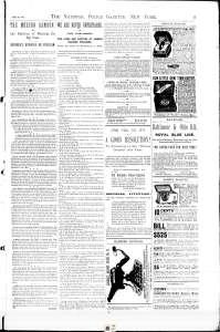 « The Modern Samson », un article sur Louis Cyr paru le 24 janvier 1891 dans le National Police Gazette (p. 11).