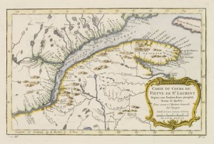 Carte du Cours du Fleuve de St.Laurent..Quebec., BELLIN,J.N., Paris, 1757.