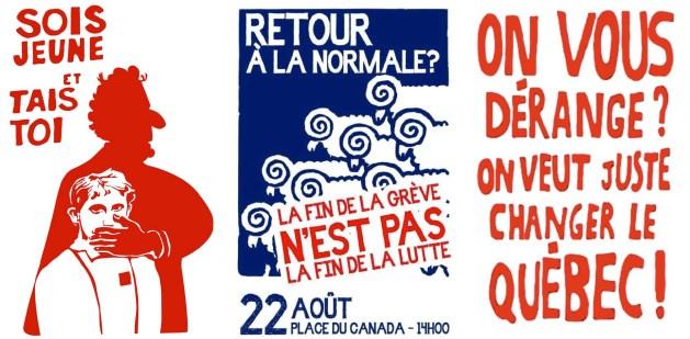 Affiches inspirées de mai 68.