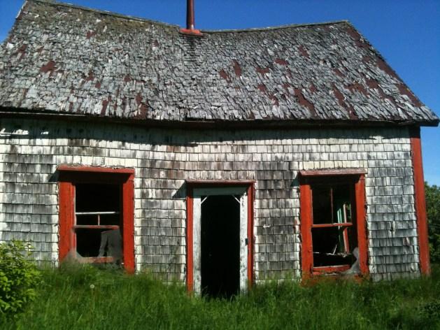Maison d'Adolphe et Emma Comeau (dernière maison existante datant de l'époque de l'expropriation).