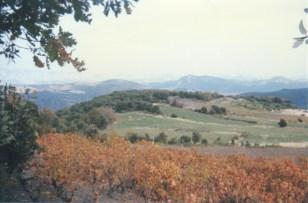 Les Fumades en 1996, avant la création de la retenue collinaire.