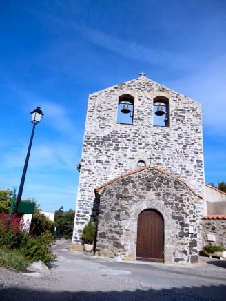 Eglise romane Saint Felix de Gérone, mur clocher du XIè.
