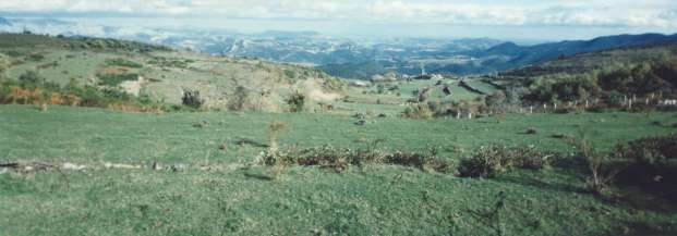 Prats de Sournia en 1994, perspective depuis Les Tartiers.