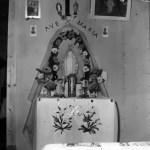 Statue de la Vierge passant de maison en maison