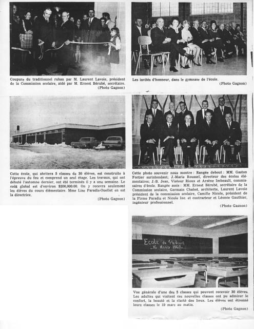 Bénédiction d'une nouvelle école élémentaire à Padoue. Péninsulaire, 26 mars 1969