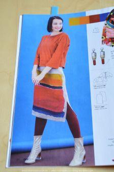 Een rechte rok met zijsplit.