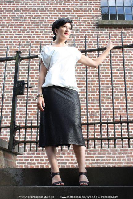 Histoires de Couture - Naaitips : Verstekhoeken in een rok met zijsplit.