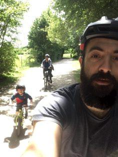 papa famille vélo