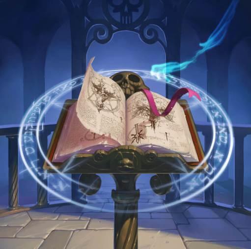 La sorcière et le livre de l'invocation ...Et elle ouvrit le livre, tourna des pages et des pages tout en lisant à voix haute toute phrase, tout mot qui s'y trouvait. Au fil de sa lecture, ses cheveux virèrent au gris, ses yeux se gorgèrent de sang...