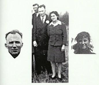 Léon Gaulin et Anita Coulombe, jour de mariage, le 27 novembre 1920 (Anita avait 16 ans)