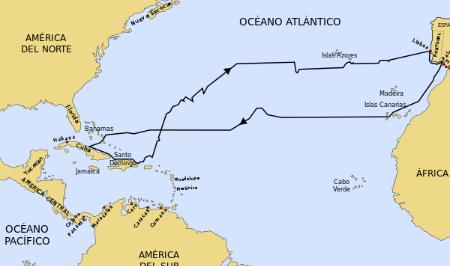 Historia del primer viaje de Cristóbal Colón