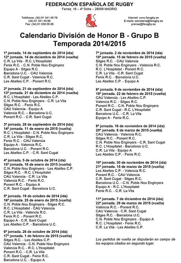 calendario-DHB-Grupo-B-2014-2015
