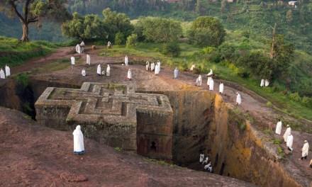 Las famosas iglesias talladas en la roca de Lalibela